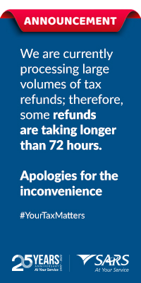 Reconcile and submit quickly on easyFile. For more information visit sars.gov.za #YourTaxMatters SARS - At Your Service